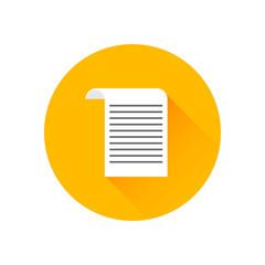 Cheque flat icon