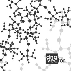 Molecule background, art illustration