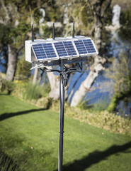 ecological wireless router solar powered in the garden
