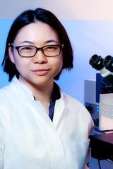 Young oriental scientist