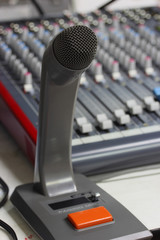 Microphone close in control room