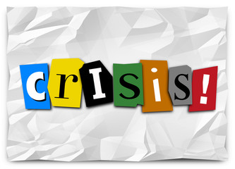 Crisis Ransom Note Emergency Urgent Situation Problem Trouble