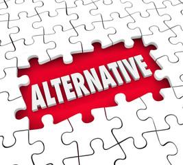 Alternative Plan Different Option Alertnate Idea Solution Puzzle