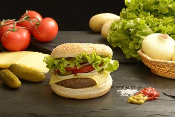 Healthy hamburger V2