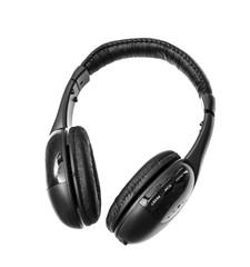 Black Headphones Isolated