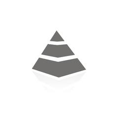 Icono pirámide FB reflejo