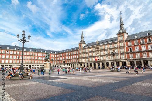 Aluminium Madrid Statue of Philip III at Mayor plaza in Madrid