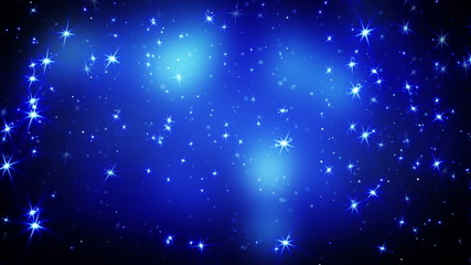 shining stars on blue falling loopable 4k (4096x2304)