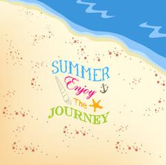 Summer enjoy the jorney on the beach background