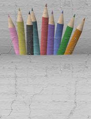Vintage color pencils