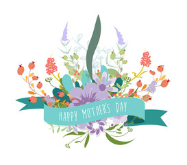 Happy Mothers's Day florals greeting card