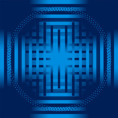 Blue stripe circle Background template