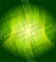 Green technical background