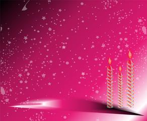 Happy Birthday pink Background