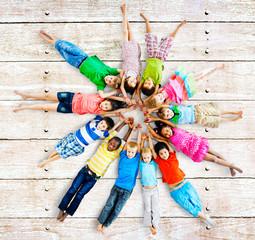 Multiethnic Children Smiling Happiness Friendship Concept