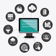 Database design, vector illustration.