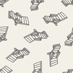 doodle Lounge chair seamless pattern background