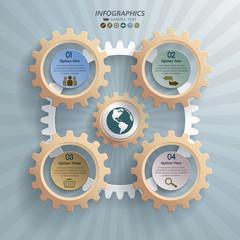 Cogwheels Industrial Infographic Concept