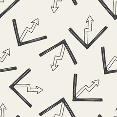 Doodle Report form seamless pattern background