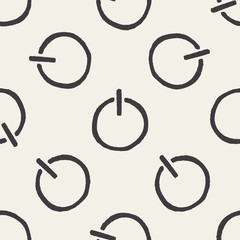 Doodle Power seamless pattern background