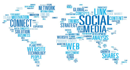 Social Media Internet Global Communications Networking Concept