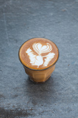 hot milk art coffee