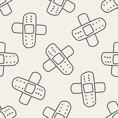 Doodle Bandage seamless pattern background