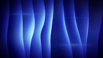 blue curved smooth lights loopable background