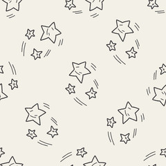 Doodle Meteor seamless pattern background