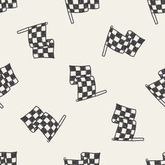 Doodle Flag seamless pattern background