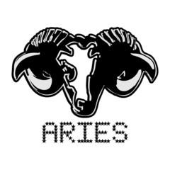 Aries horoscope aries stylized