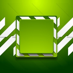 Green abstract geometric corporate background