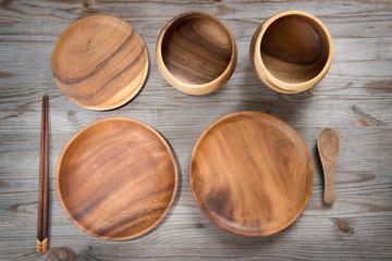 Various design empty plates