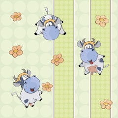 A background with cows