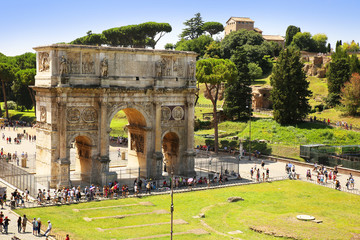 The Arch of Constantine (Arco di Costantino) is a triumphal arch
