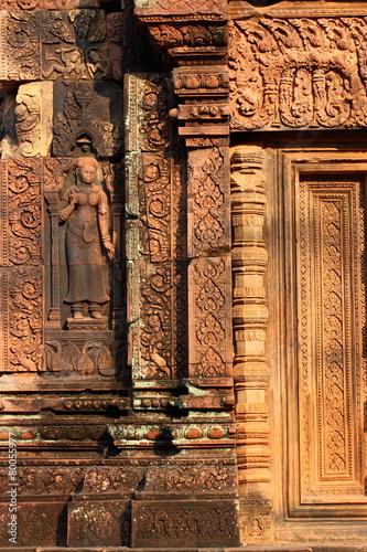 Staande foto Athene Temple Banteay Srei in Angkor