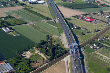 aerial view of highway in Poland