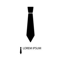 Balck tie as logo