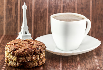 Coffee and biscuits in the morning