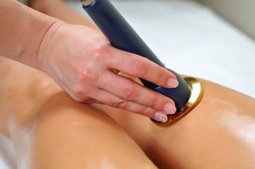 Ultrasounds skin beauty treatment