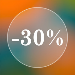30 percent discount icon