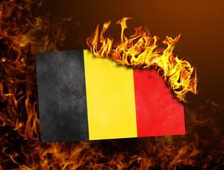 Flag burning - Belgium