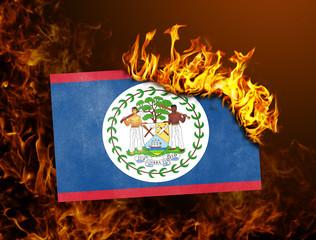 Flag burning - Belize