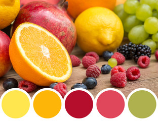 Color Palette Of Fresh Summer Fruits