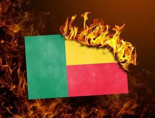 Flag burning - Benin