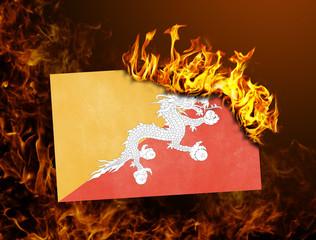 Flag burning - Bhutan