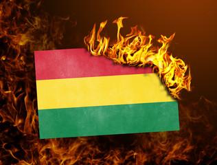 Flag burning - Bolivia