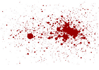 abstract splatter red color isolate