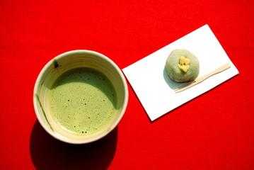 野点のお抹茶と和菓子