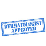 Dermatologist Approved-stamp poster